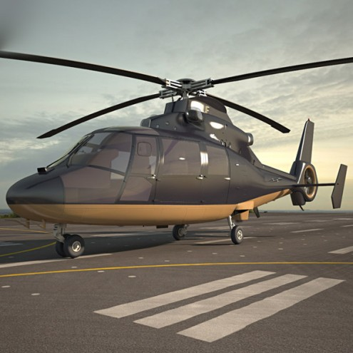Аренда вертолета Eurocopter AS365 DAUPHIN с пилотом