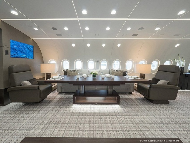 интерьер Boeing Business Jet 787