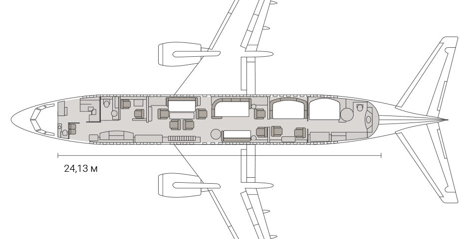 схема Boeing Business Jet (BBJ)