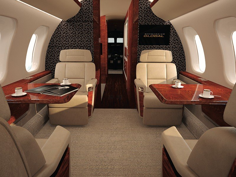 кресла Bombardier Global 8000