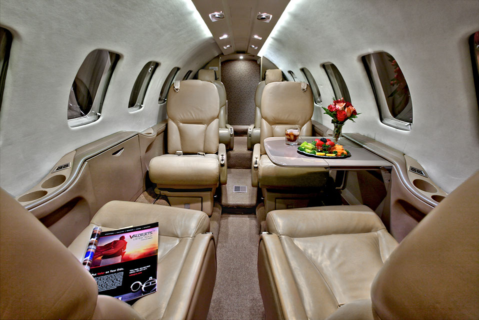 интерьер Cessna Citation Bravo