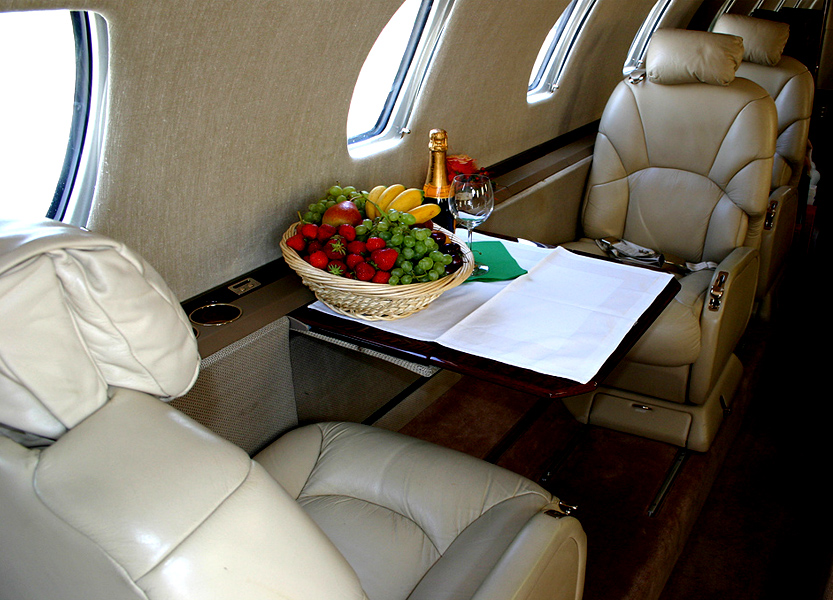 интерьер Cessna Citation Excel