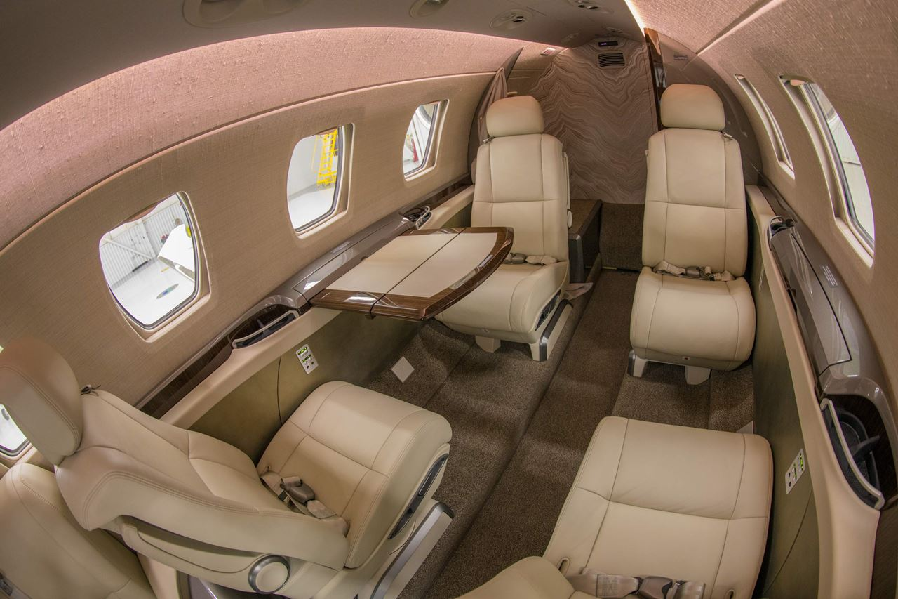 интерьер Cessna Citation M2