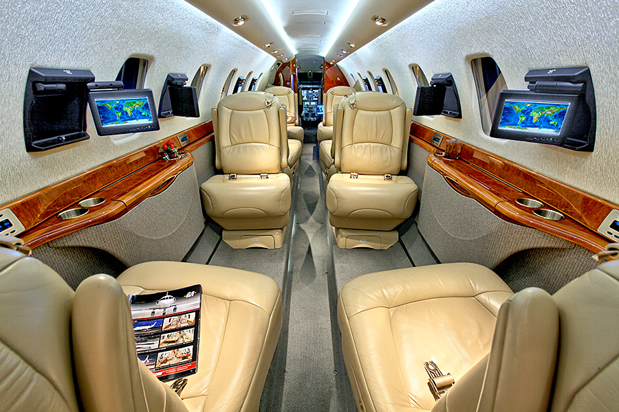 интерьер Cessna Citation Sovereign