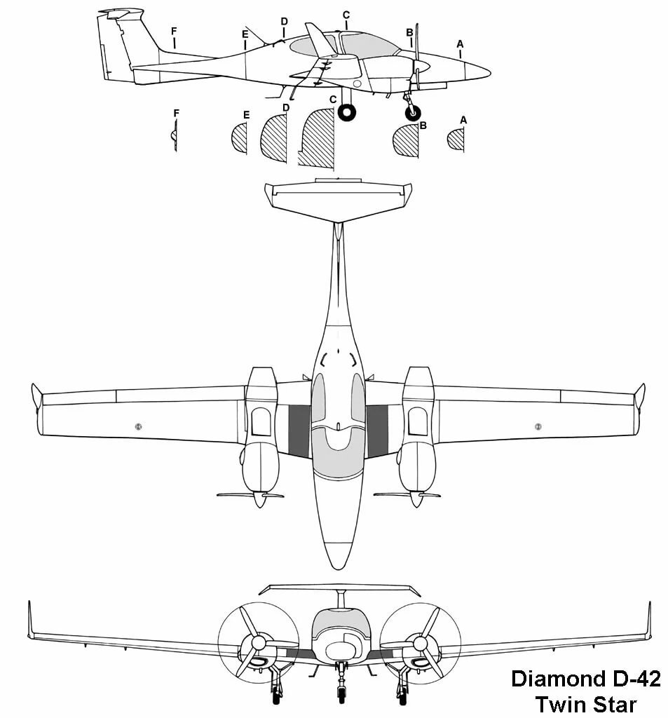 самолет Diamond DA42 Twin star