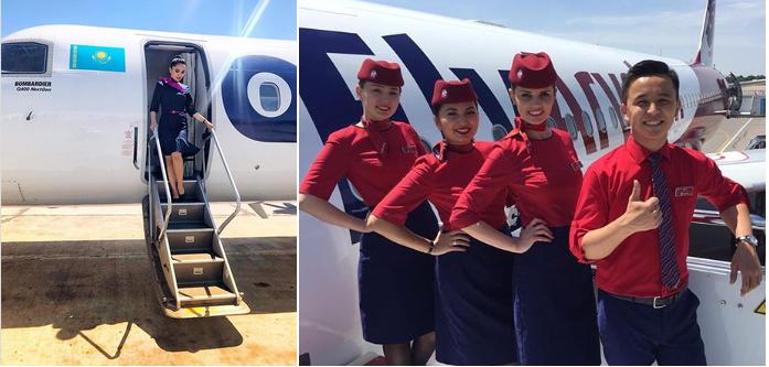 пилоты и бортпроводники частного самолета