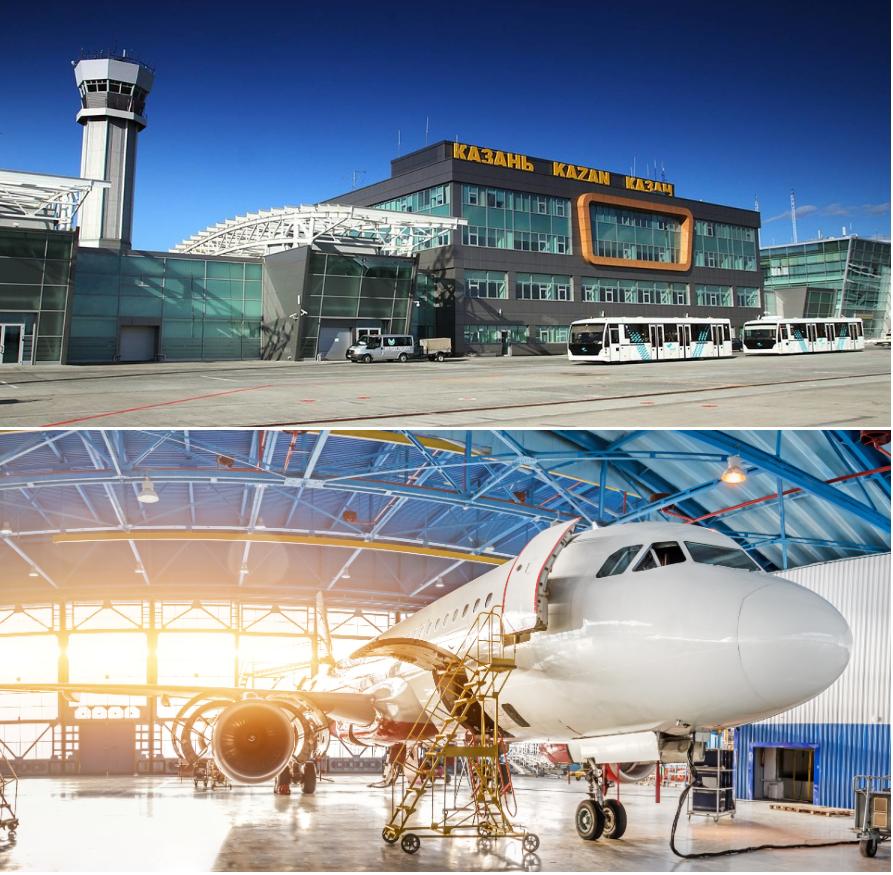 частный самолет в аэропорту Казань