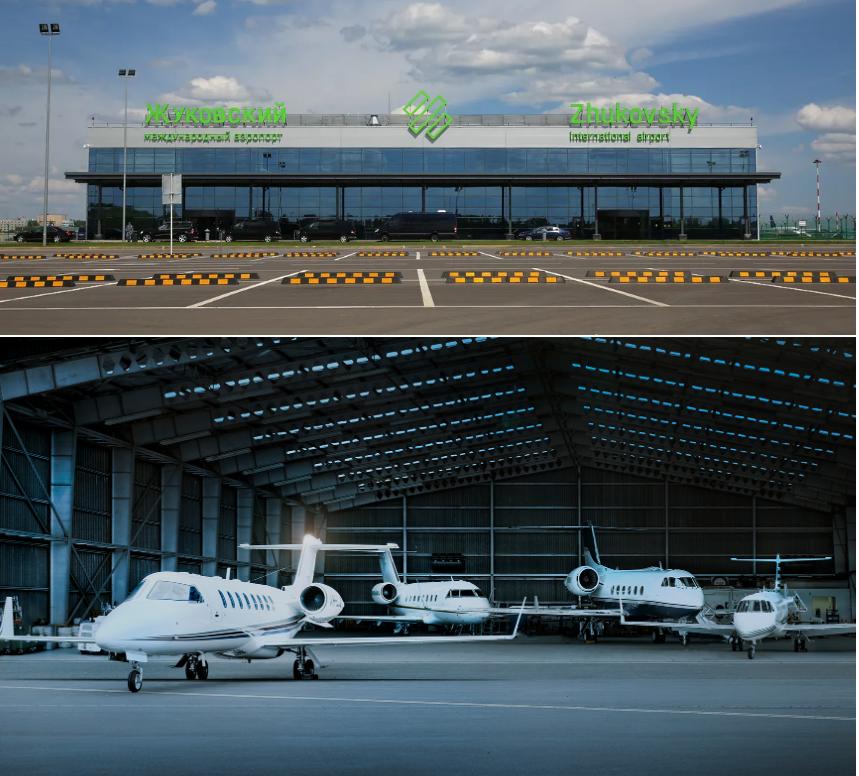 бизнес авиация в аэропорту Жуковский