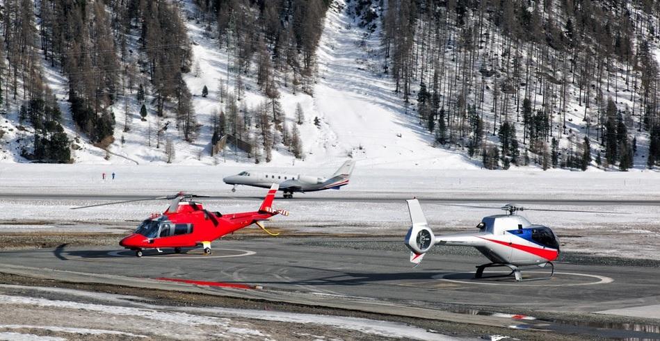 частный самолет на горнолыжный курорт