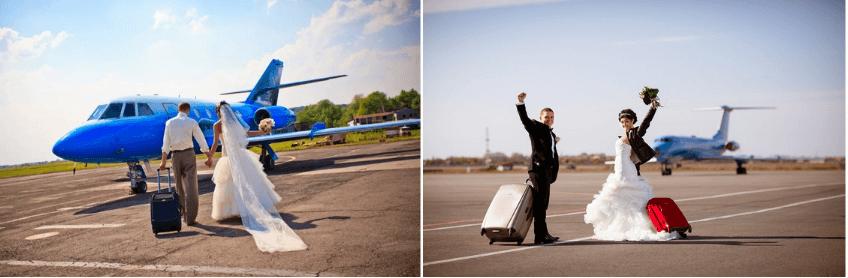 аренда самолета для свадебного полета