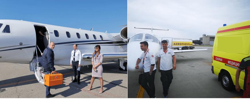 медицинский перелет на частном самолете