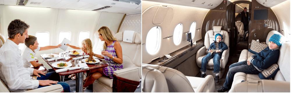 перелет на частном самолете с ребенком