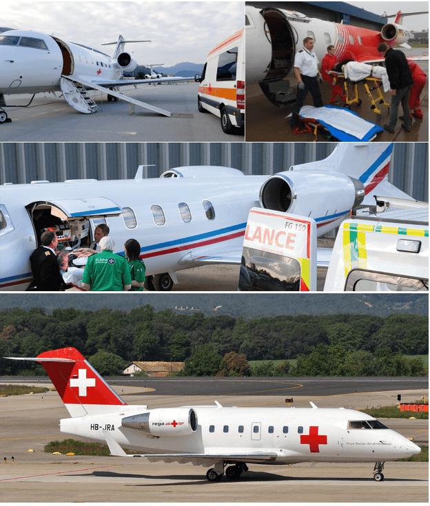 медицинский перелет с лежачим больным на частном самолете