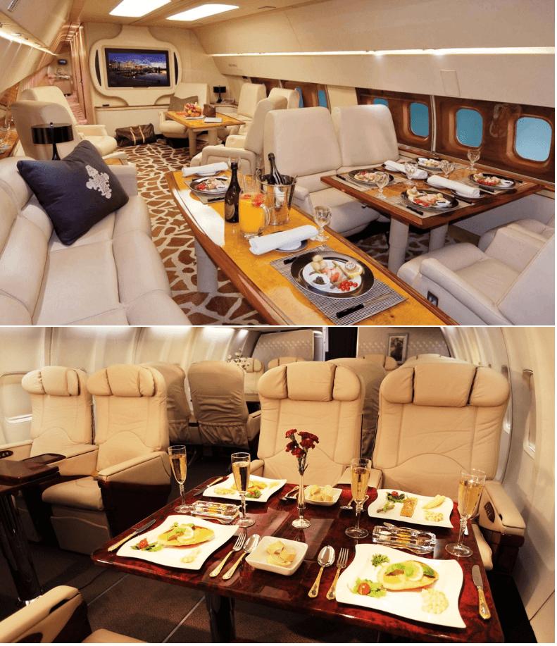 питание на борту частного самолета