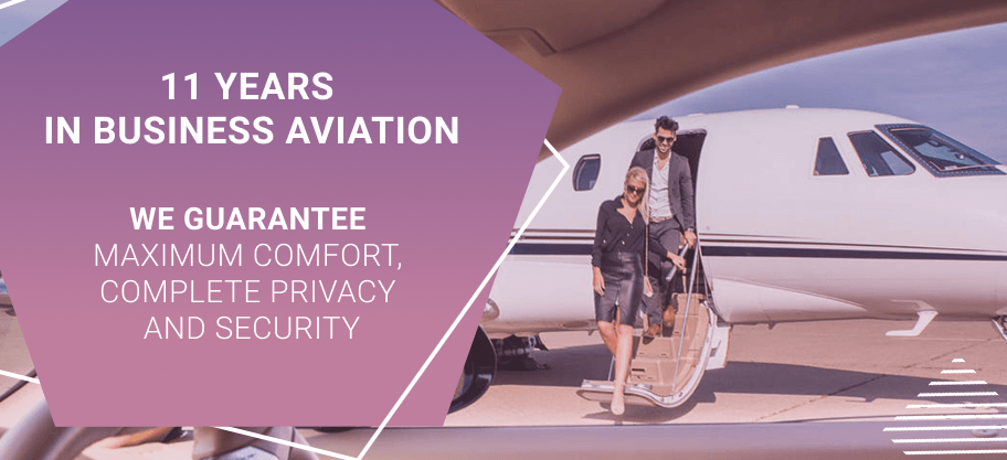 11 years in business aviation