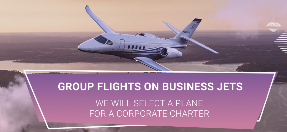 corporate flights on a private jet