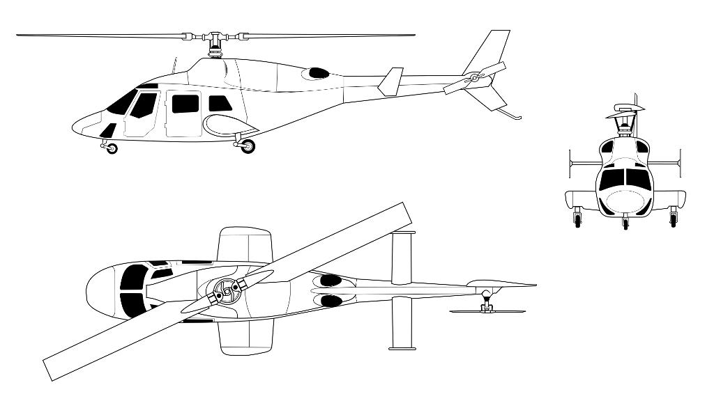 частный вертолет BELL 222