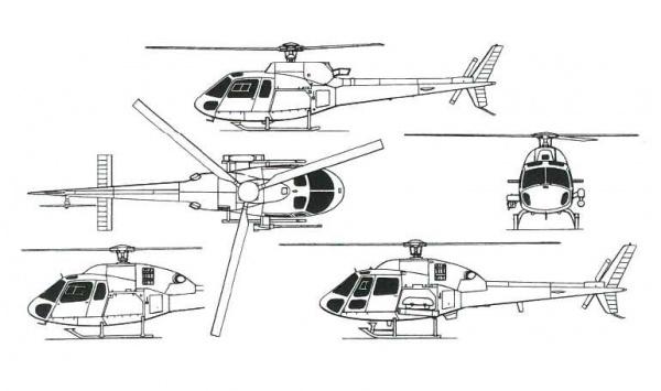 частный вертолет EUROCOPTER AS355 ECUREUIL II